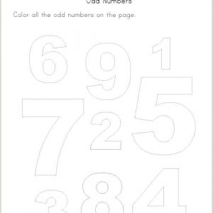 Odd and even Color by Number Worksheets