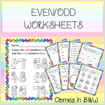 Photo of Odd and even Color by Number Worksheets