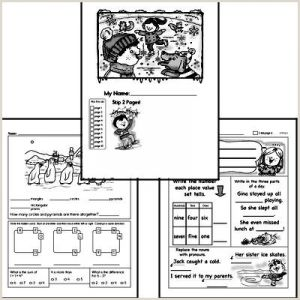 Reading Activity Worksheets for Kindergarten