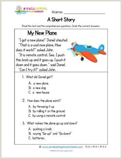 Reading And Comprehension Worksheets For Kindergarten