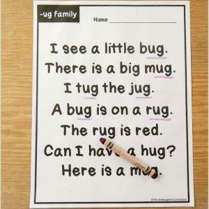 Reading Comprehension Worksheet for Kindergarten Pdf