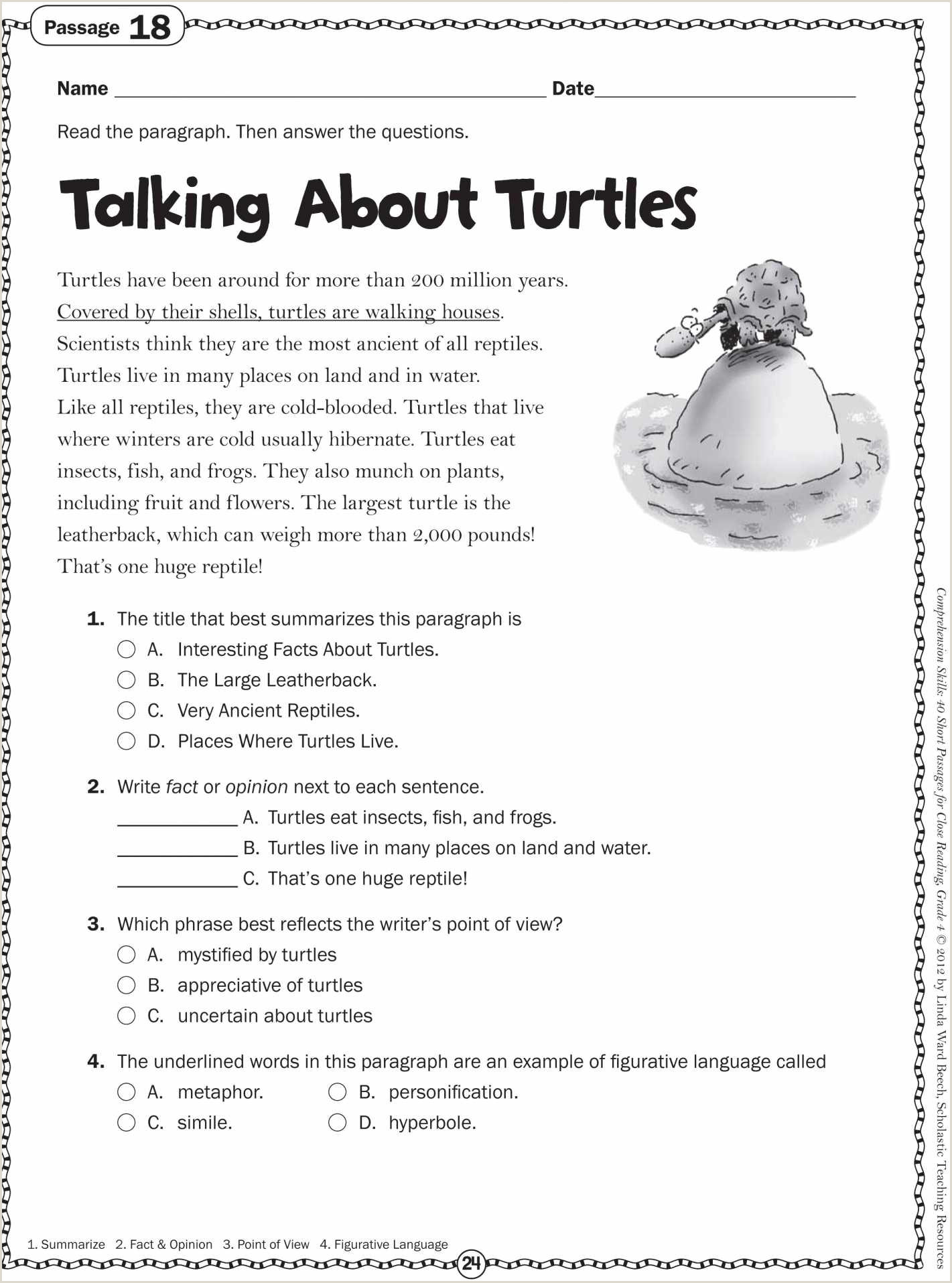 Reading Comprehension Worksheets for Kindergarten Students