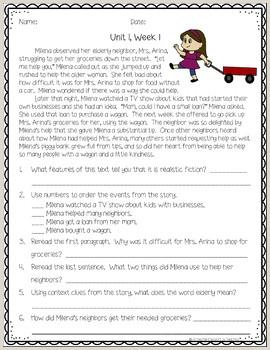 Reading Worksheets For Kindergarten And First Grade