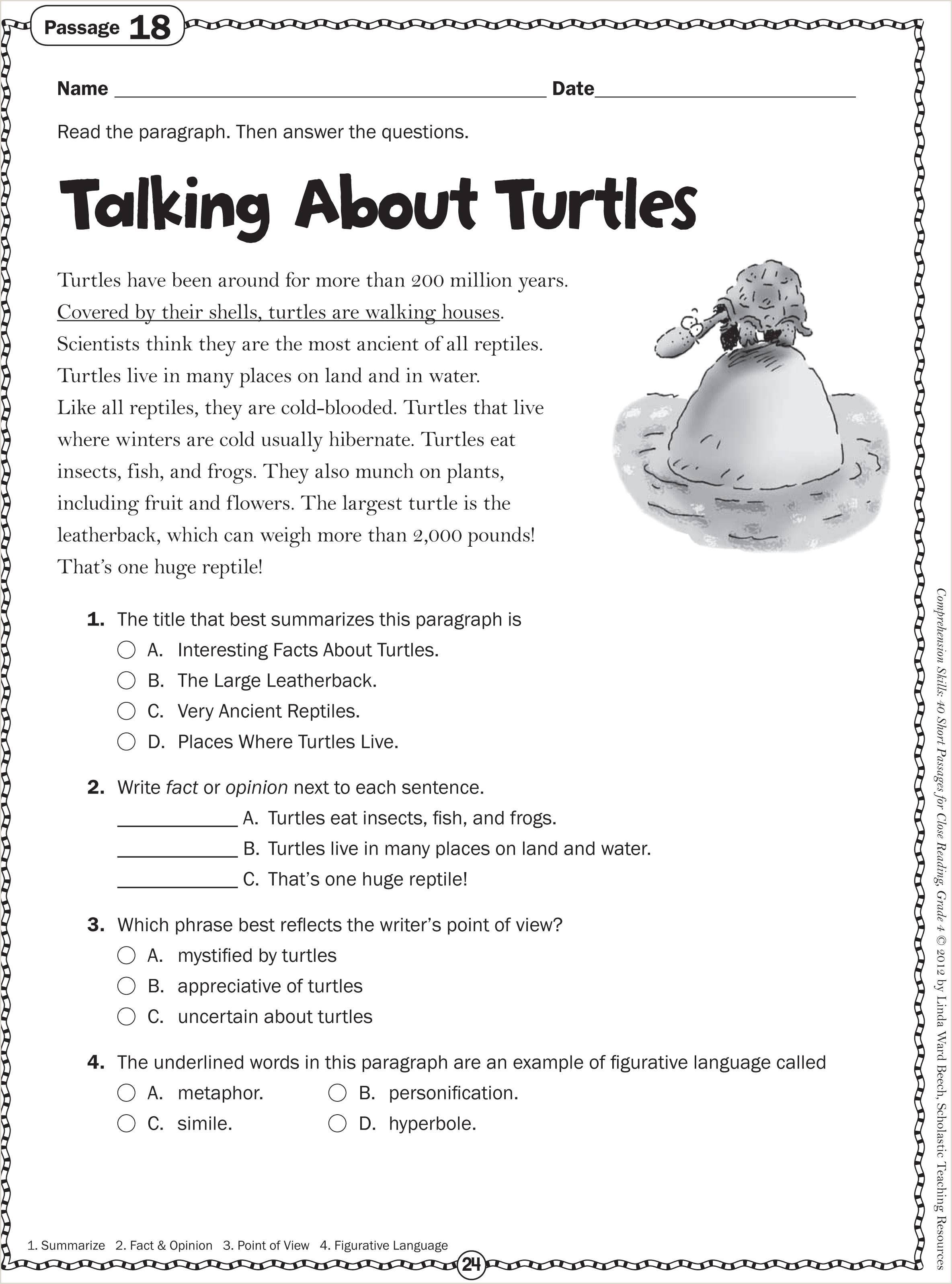 Reading Worksheets For Kindergarten Free Printables