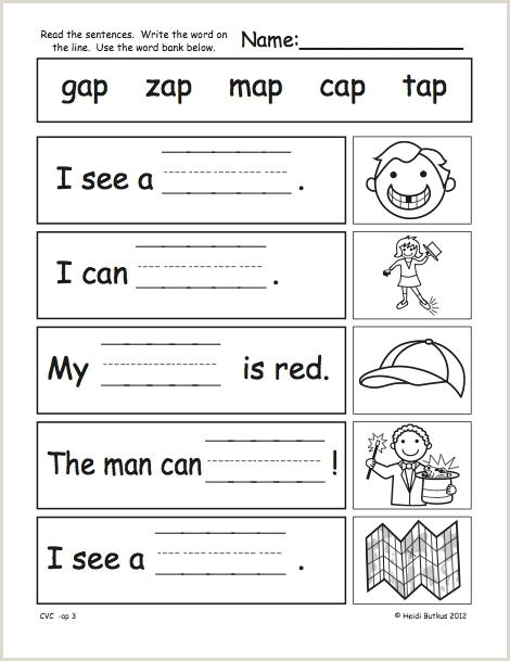 Reading Worksheets for Kindergarten Pdf