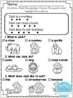 Senior Kindergarten Reading Worksheets
