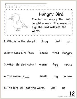 Simple Reading Comprehension For Kindergarten