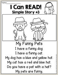 Simple Reading Comprehension for Kindergarten