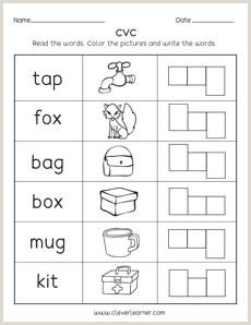 Simple Reading Worksheets for Kindergarten