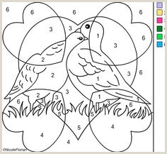 Spanish Color By Number Worksheets Free