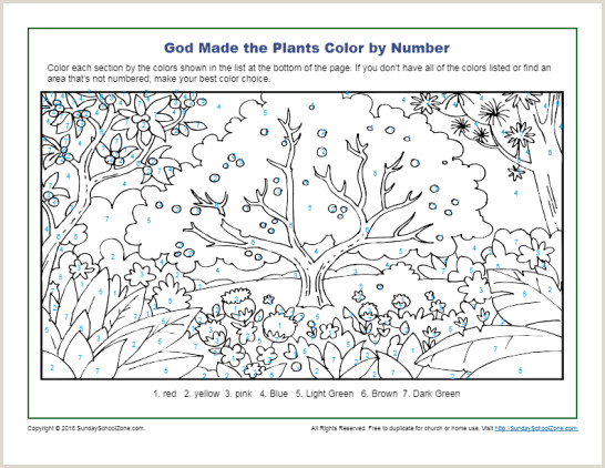 Spring Color By Number Coloring Pages