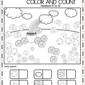 Spring Color by Number Worksheets Free
