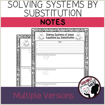 Systems By Substitution Color By Number Worksheet Answers Pdf