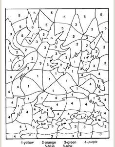 Unicorn Color by Number Coloring Pages