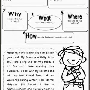 Wh Questions Reading Comprehension Worksheets Kindergarten