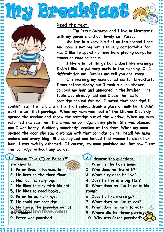 Wh Questions Reading Comprehension Worksheets Kindergarten