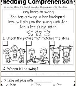 Worksheet Reading for Kindergarten