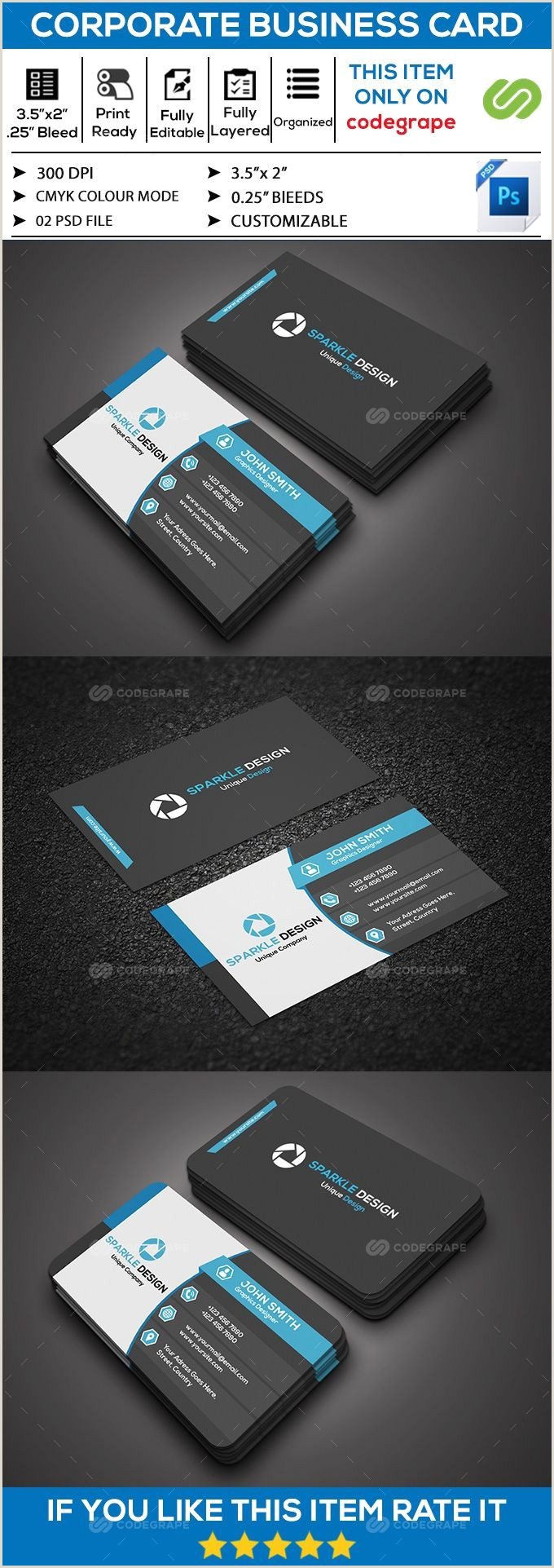 2 Color Business Cards Corporate Business Card
