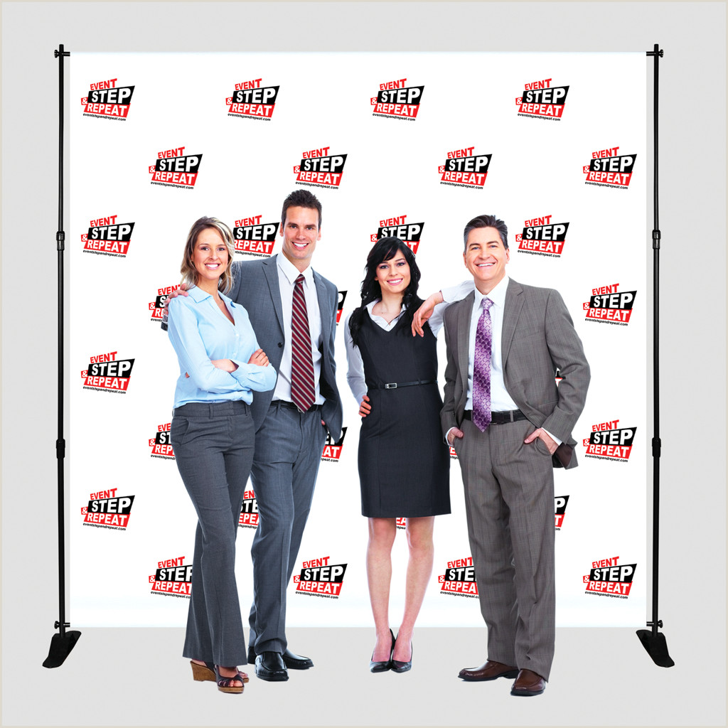 """3 Sided Banner Stand 3 Sided Banner Stand 24"""" X 71"""" Event Step And Repeat"""