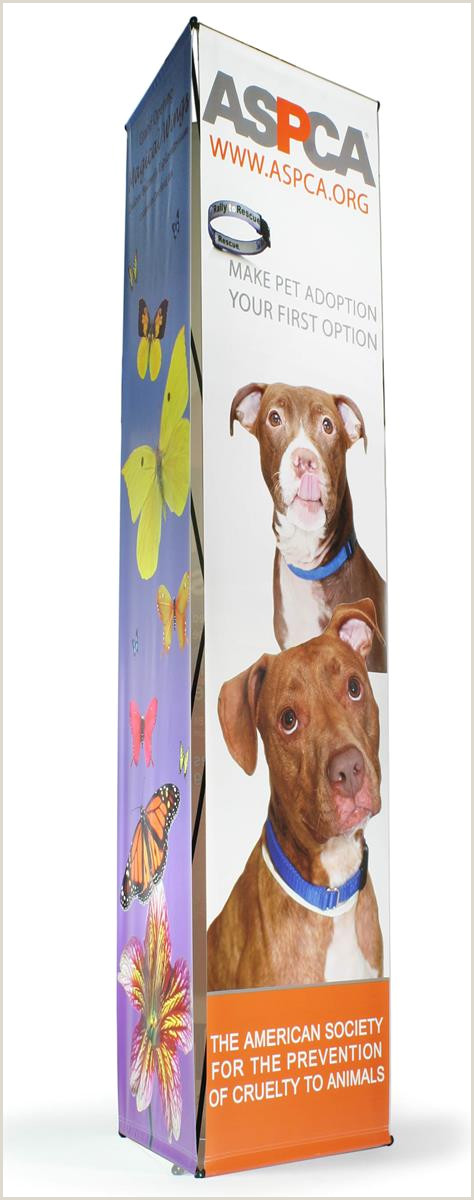 3 Sided Banner Stand 3 Sided Banner Stand With 3 2 5 X 10 Custom Printed Graphics
