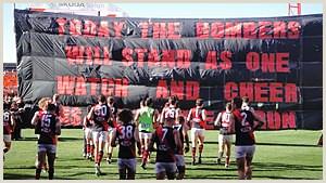 3 Sided Banner Stand Banner Australian Rules Football