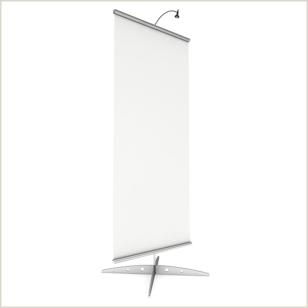 3 Sided Banner Stand Blank Roll Up Banner Stand Trade Show Booth White And Blank Mock Up