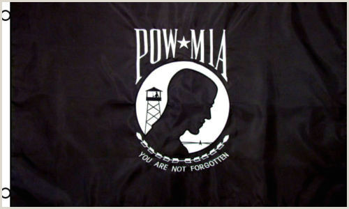 3 Sided Banner Stand Pow Mia Powmia 3×5 3 X5 Embroidered 2 Double Sided Flag Usa