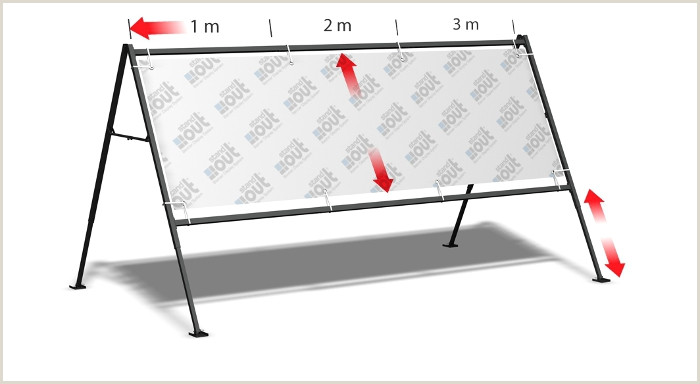 3 Sided Banner Stand Stand Around 3