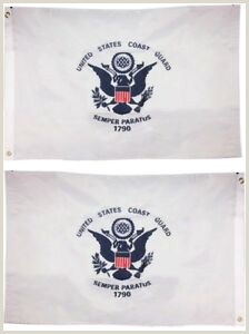 3 Sided Banner Stand Uscg Coast Guard Double Sided 2ply 220d Nylon Flag 3 X5 3×5