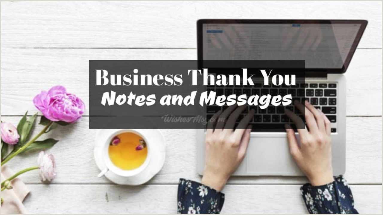 30 Best Business Cards Thank You Messages Business Thank You Messages Notes & Wordings Wishesmsg