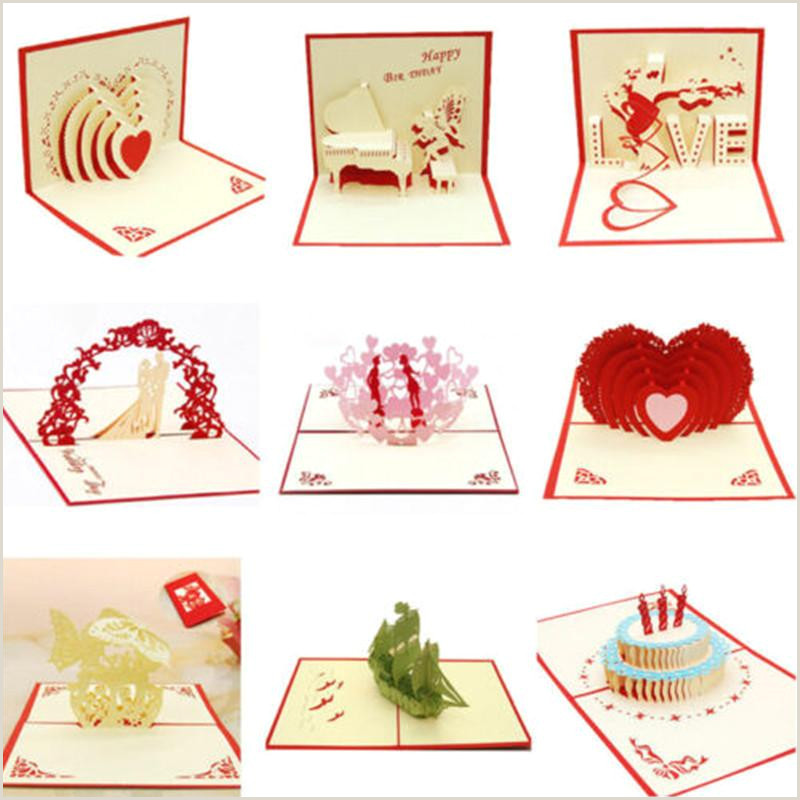 3d Artist Business Cards 3d Creative Up Cards Valentine Lover Happy Birthday Anniversary Greeting Card Postcards Gifts Card Party Wedding Decoration Free Line Greetings