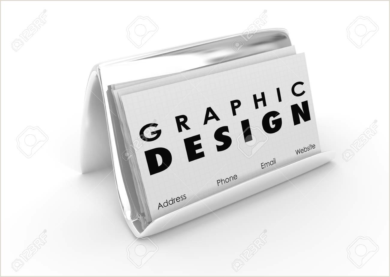 3d Artist Business Cards Stock Illustration