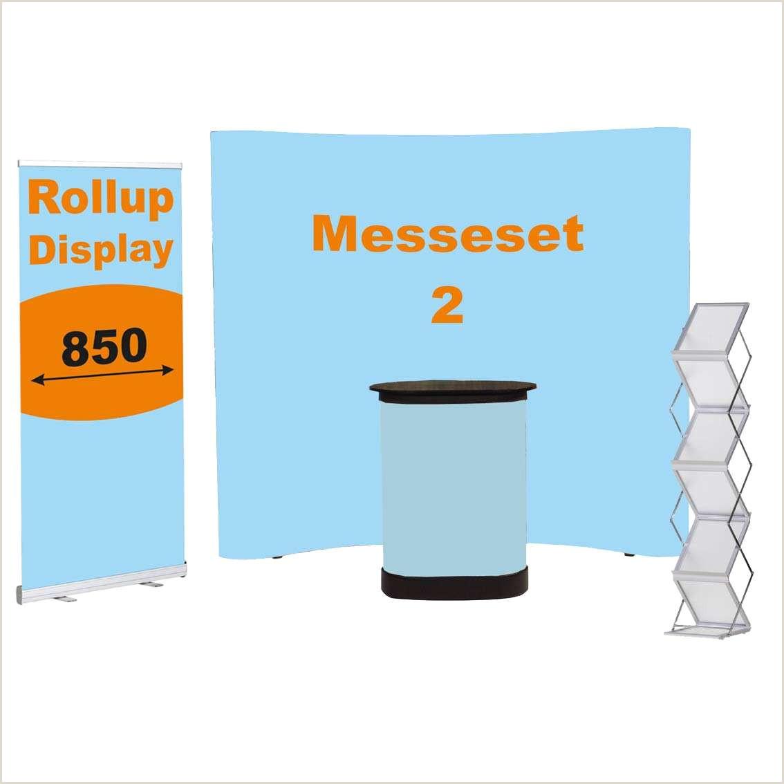 3×3 Pop Up Banner Messeset 2 Mobiler Messestand Als Komplettset