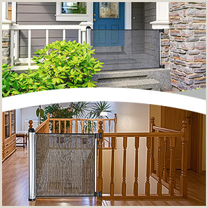 6ft Retractable Baby Gate Details About Baby Safety Gate Retractable Door Extra Wide Child Pet Safety Stairs Gate