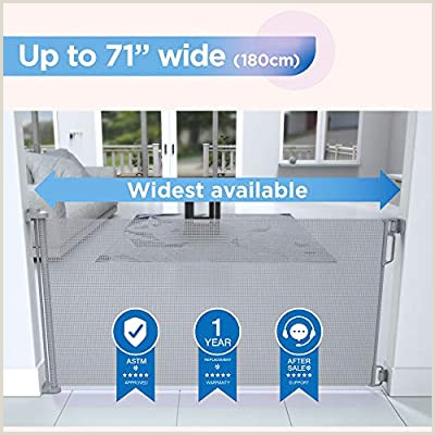 6ft Retractable Baby Gate Pperma Child Safety Extra Wide Outdoor Retractable Baby Gate