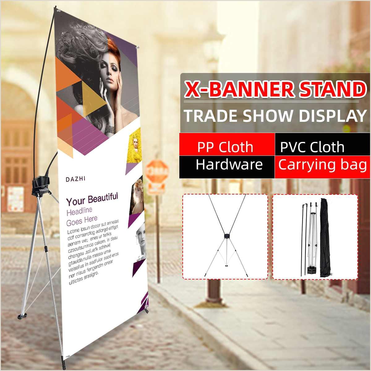 A Frame Banner Stands 60 160cm 80 180cm Iron Frame Poster Display Banner Stand Kit Floor Standing Frame Label Sign Billboard Rack Trade Show