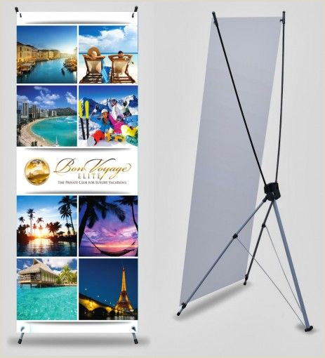 A Frame Banner Stands Bon Voyage 2 X 5 Banner With X Stand • Getmybusinesscards