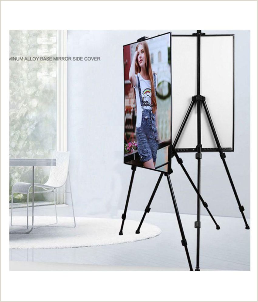 Adjustable Banner Stands Canvas Painting Metal Stand For Adult Artist Easel Adjustable TriPod Professional Display Holder For Indoor Outdoor Picture Poster With Carry Bag