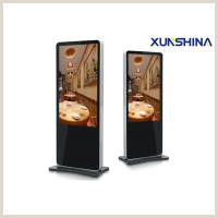 """Advertising Display Stands 55"""" Floor Stand Lcd Advertising Display Electronic Signage"""