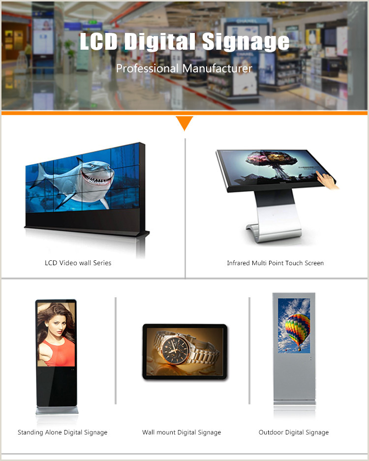 Advertising Stands Outdoor 55 Inch Floor Standing Digital Signage Mercial Lcd
