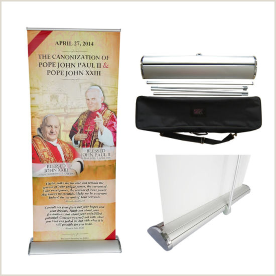 Aluminum Banner Stand Stable Aluminum Banner Display Stand Roll Up Banner Standee