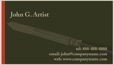 Art Business Cards Art & Design Business Cards Print Design Gallery Free Art