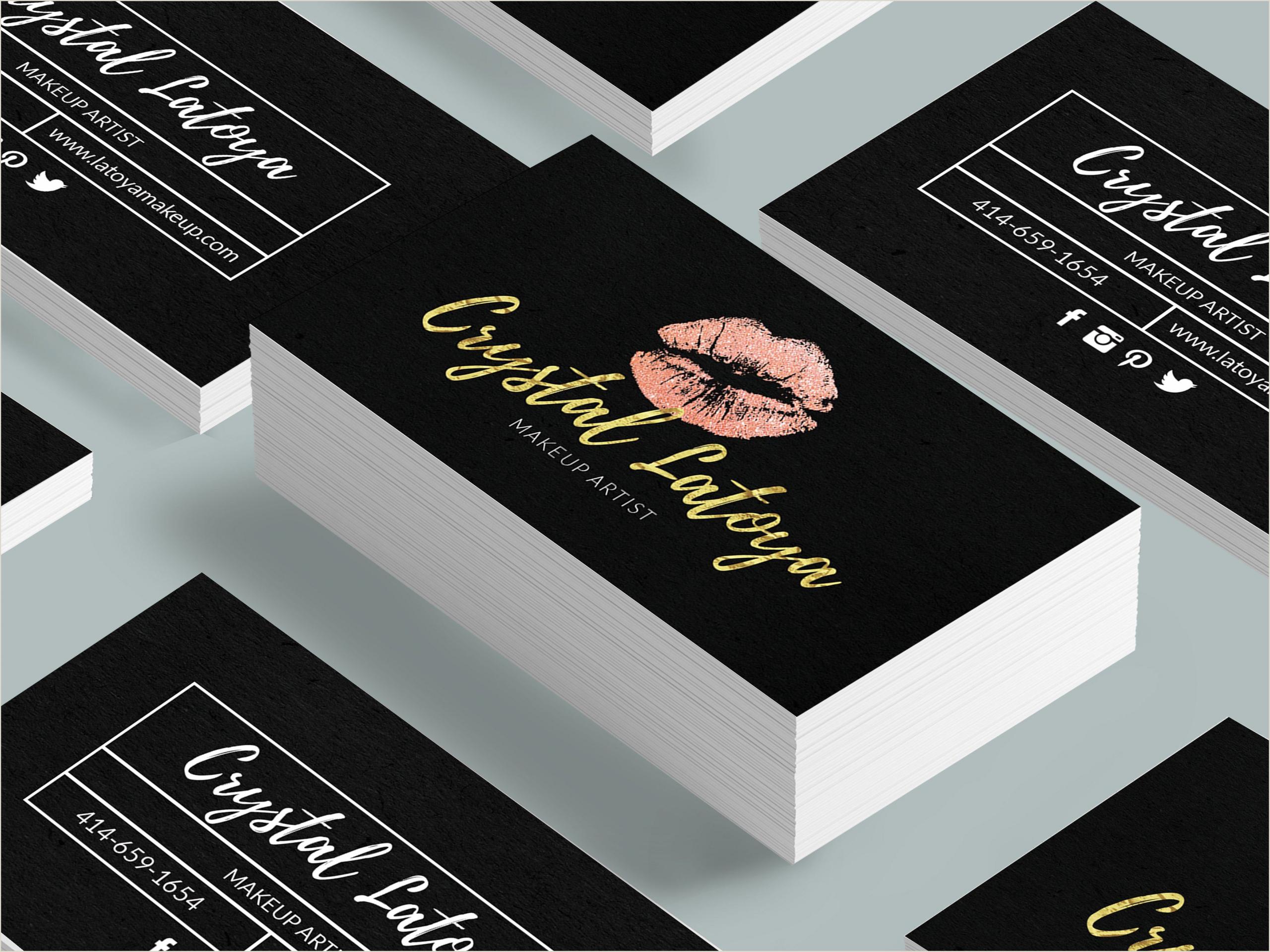 Art Business Cards Makeup Artist Business Card Template