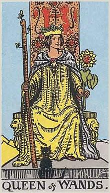 Artist Calling Card Queen Of Wands Tarot Card