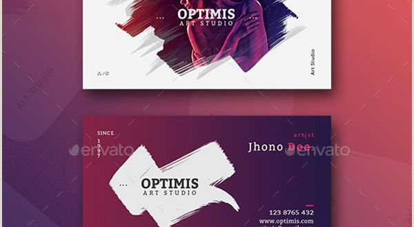 Artist with Unique Business Cards 49 Artist Business Card Templates Free Psd Vector Png Ai