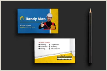 Awesome Unique Handyman Business Cards 27 Handyman Business Cards Templates Free Ideas