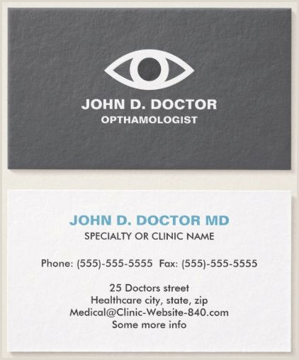 Back Of Business Card Ideas 50 Best Medical Business Cards Images