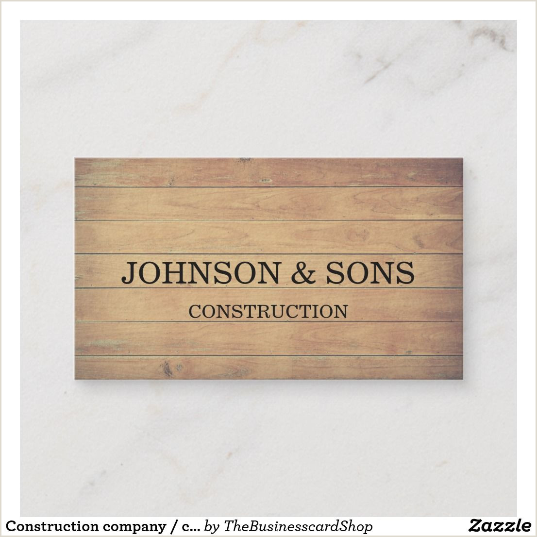 Back Of Business Card Ideas Construction Pany Contractor Business Card