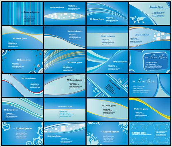 Background Design For Business Cards Vector Blue Business Card Background Free Premium Vector