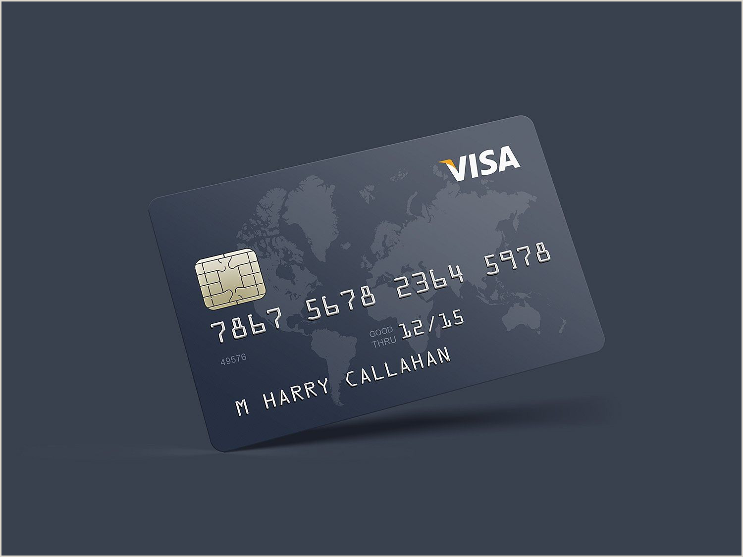 Bad Business Cards Realistic Credit Card Mockup